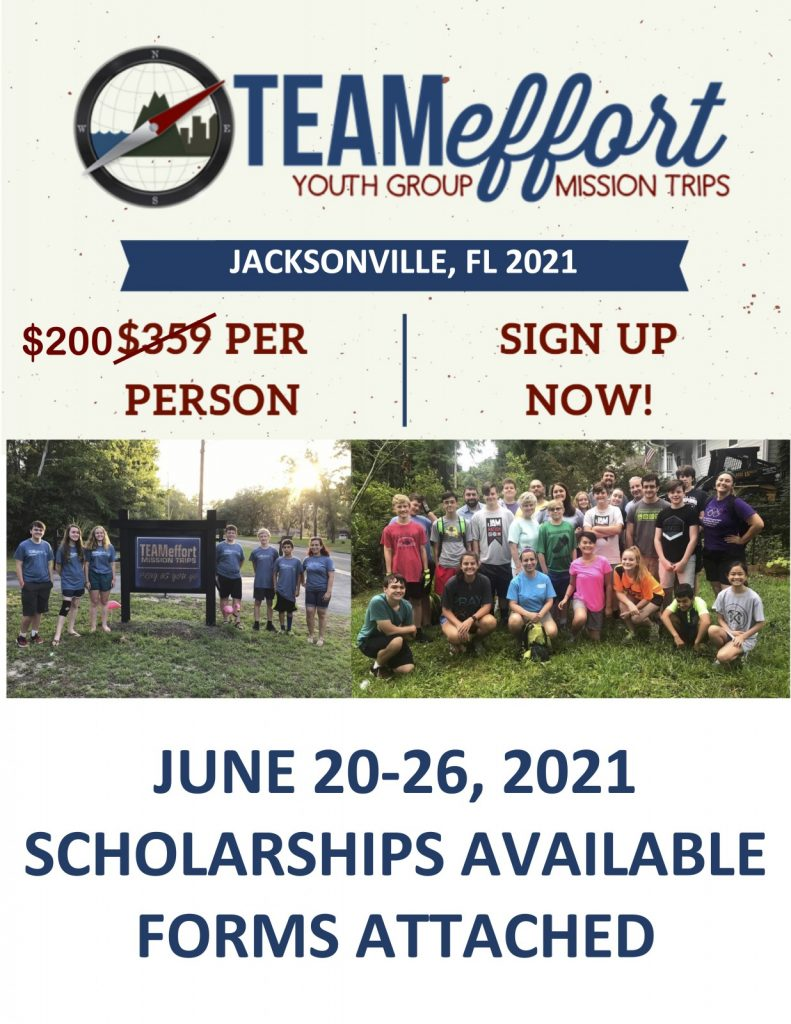 Mission Trip 2021 Cover Page